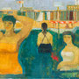 Sans titre - Trois baigneuses (Venise) - circa 1953 - Hst - 65/81 - ©Adagp Paris 2014