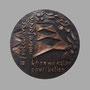 Voltaire (revers) - Bronze - 70 x 70 mm - ©Adagp Paris 2014