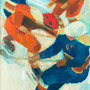Match de hockey sur glace (Chamonix) - circa 1970 - Hst - 65/54 - ©Adagp Paris 2014