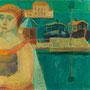 La femme aux yeux verts - 1954 / 55 - Hst - 73/100 - ©Adagp Paris 2014