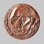 Desnoyer (Artiste peintre) / face - Bronze - 70 x 70 mm - ©Adagp Paris 2014