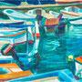 Flotille de bateaux, reflets (La Ciotat, Var) - circa 1986 - 31,4/41,1 - ©Adagp Paris 2014