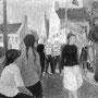 Fête des moissons à Loc-Maria (Bretagne) - 1957 - Hst - 46/55 - ©Adagp Paris 2014
