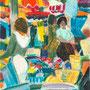 Etalage au marché (Roanne) - circa 1986 - Pastels à l'huile 41,3/33 - ©Adagp Paris 2014