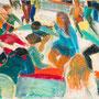 Les jeux de la patinoire - circa 1970 - Pastel à l'huile - 33,4/39,5 - ©Adagp Paris 2014
