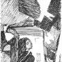 La Kramgasse à Bernes - Voeux - Encre de chine - circa 1983 - 23,2 x 12,5 cm - ©Adagp Paris 2014