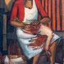 Femme plumant un poulet - circa 1949 - Hst 146/97 - ©Adagp Paris 2014
