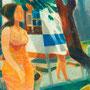 La fille à Chamonix - circa 1974 - Hst - 130/97 - ©Adagp Paris 2014