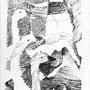 Voeux - Encre de chine - circa 1984 - 23,2 x 12,5 cm - ©Adagp Paris 2014