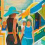 Femmes aux trois boutiques - circa 1990 - Hst 97/130 - ©Adagp Paris 2014