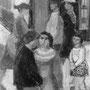 Boulevard du Montparnasse, les bavardes - 1953-54 - Hst - 81/65 - ©Adagp Paris 2014