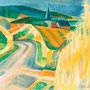 La route aux herbes folles (Buffières, Aveyron) - circa 1990 - Hst - 54/65 - ©Adagp Paris 2014