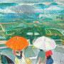Il pleut sur la place (La Cadière d'Azur, Var) - circa 1982 - 31,4/40,9 - ©Adagp Paris 2014