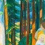 Repos dans la forêt (Suisse) - circa 1984 - Hst - 130/97 - ©Adagp Paris 2014