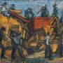 Batteuse, le soir (sur le Larzac) - circa 1950 - Hst 50/61  -  Début an. 50 - ©Adagp Paris 2014