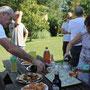 Le traditionnel pot d'accueil avec nos hôtes (Jean-Louis et Martine) couplé avec l'anniversaire de Jean-Paul. Dominique le frère de Danielle nous a rendu visite à cette occasion.