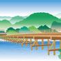 京都市民しんぶん右京区版 2017年度版7月号〜タイトル用イラスト