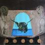 """""""El Cofre de los Deseos"""" mixta/tela 130x155 cms. 2013"""