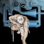 """Laocoonte XXI"" mixta tela 116x89 cms. 2002"