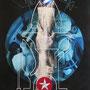 """""""Torre con Válvulas"""" mixta/tela 116x87 cms. 2013"""