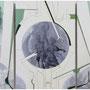 """Proyecto Inútil para Paraíso Inconcluso"" óleo/tela tríptico 90x60 cms. c/u 2012"