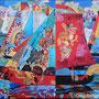 Драконья регата, 72х86 (Подарена художником членам семьи - г.Макеевка, УКРАИНА!!! - конфискована на блокпосту как провоз  в ЗАРУБЕЖНОЕ, по факту,  государство)! При дарении автор отдает свою работу БЕСПЛАТНО!
