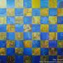 Жовтий та блакитний,  110х110