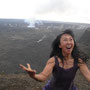 Shizouno dancing on the vulcano