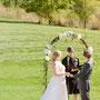 Hochzeitszeremonie Outside in der Natur