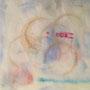 nageuse II, collage de gravure de tétra-pack, encre et empreinte de café, 6 expl.