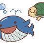 「海の生き物のイラスト」2013年、Illustrator