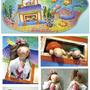 「不思議の海」2009年、展示会用作品/段ボール、紙粘土、アクリル絵具ほか