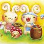 「不思議の森/クッキー屋さん」2007年、展示会用作品/キャンバス、アクリル絵具