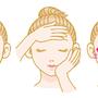 「化粧品使用方法の説明イラスト」2009年、Illustrator