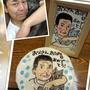 似顔絵ケーキ①ケーキと、似顔絵と、フォトフレームのセットです♪