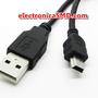 Cable USB tipoA macho a tipoB mini  Electronica Electronico Guatemala ElectronicaSMD