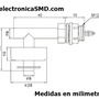 Medidas del sensor con angulo