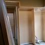 塗装中にオープンクローゼットが完成しました。