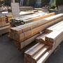 朝から大量の木材が届きます。