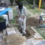 まずは掘る。 水道屋さんは掘るお仕事がとても大変です。