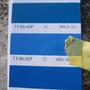 お客様のご希望で、アクセントカラーはこのブルーに決定しました☆ブルーもいいですよね。爽やかでポップなイメージです。