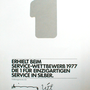 Volkswagen Service-Wettbewerb 1977 Urkunde