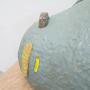 「さんじょう の ひるね」陶、発泡スチロール、FRP、カラーサンド/W1360×D470×H1170