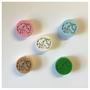 Ponykopf Motivperle / Farben: Weiß, Natur, Babyrosa, Babyblau, Grün