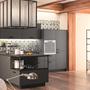 cuisine intérieur design tendance moderne  à Toulouse gris anthracite noir ilot central carreaux de ciment type industriel