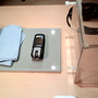 Versuchstisch mit Webcam gefilmt
