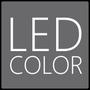Der Drehschalter hat eine farbigen LED Kranz der je nach Temperatur blau / lila oder rot leuchtet