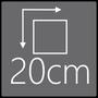 Das Spiegelelement hat eine Gesamtgröße von 20x20cm