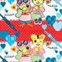 ◆ベクターイラスト(配色まで)+素材塗り加工(質感)◆しまりん&とりりん(しまじろうのわお!)※二次創作