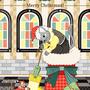 """◆ベクターイラスト(配色まで)+素材塗り加工(質感)◆猫と鼠「靴下発見!」MERRY CHRISTMAS!/Cat and Mouse """"socks discovery!"""" MERRY CHRISTMAS!"""
